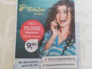 Tchibo Mobil Tarife (z.B. 15 GB, 1000 min, 500 SMS für 9,90€)