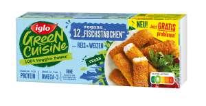 Iglo Green Cuisine Vegane Fischstäbchen Gratis testen
