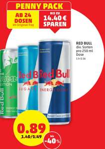 RED BULL um € 0.89 ab 24 Stück beim Penny am 21.05. und 22.05.