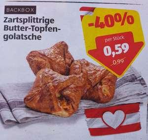 Zartsplittrige Butter-Topfen-Golatsche in Aktion bei Hofer