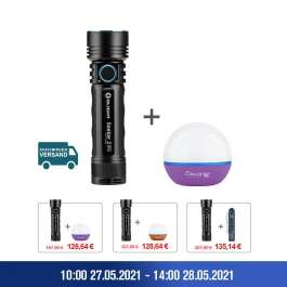 Olight Seeker 2 pro Taschenlampe + Olight Obulb Bundle + gratis Olight I3E EOS Taschenlampe