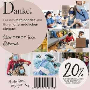 Depot Filialen: - 20% auf den Einkauf