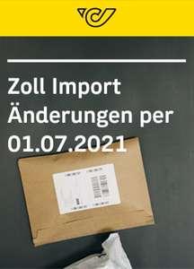 *Info Deal* - auf der Post Seite sind Infos zum Import von Waren aus Drittländer zu finden