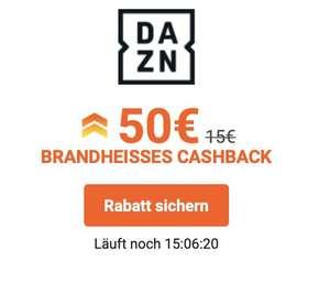 Dazn Jahresabo um 69,99€ mit Cashback für Neukunden