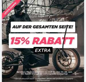 Heute 15% extra und gratis Versand bei XL Moto ab 100€
