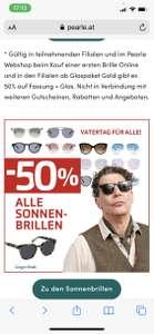 *Pearle Diverse Brillen -50% *Sonnenbrillen