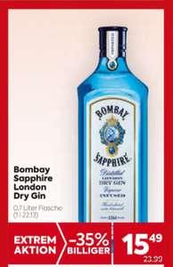 Bombay Sapphire London Dry Gin um 15,49 bei Billa und Billa-Plus