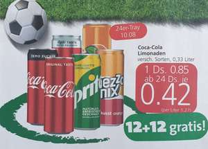 Coca-Cola, Fanta, Mezzo-Mix u. Sprite 0,33 Dose in Aktion bei Spar Euro- und Interspar