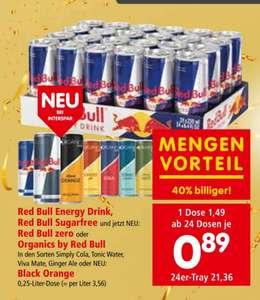 Red Bull (div. Sorten) ab 24 Dosen in Aktion bei Interspar