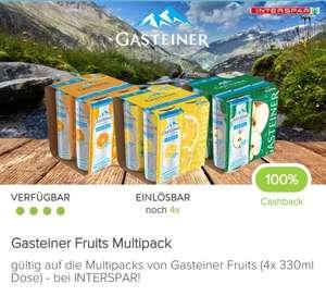 Marktguru + Interspar: 100% Cashback auf Gasteiner Fruits Multipack