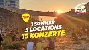 """Musik am Fluss"" 15 Gratis Live Konzerte im Juli 2021 in Wien"