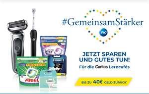 Cashback-Aktion bis - 40 Euro bei Braun, Oral-B, Gilette, Ariel und Lenor