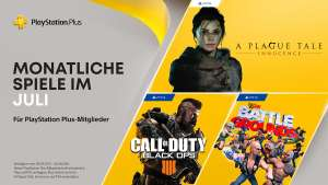 PS Plus Games im Juli 21: Call of Duty: Black Ops 4 (PS4), WWE 2K Battlegrounds (PS4), A Plague Tale: Innocence (PS5) -Infodeal -