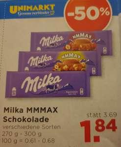 MILKA 300g verschiedene Sorten Unimarkt bis 13.07.