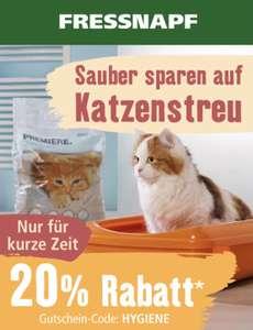 20% auf Katzenstreu