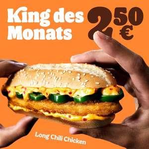 "Burger King: King des Monats Juli ""Long Chili Chicken"" um 2,50€ | neue Coupons in der App"