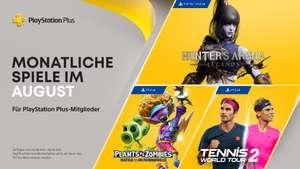 PS Plus August: Hunter's Arena Legends (PS4&5), Plants vs. Zombies: Schlacht um Neighborville, Tennis World Tour 2 vom 3.8. bis 6.9.