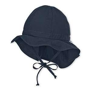 Sterntaler Unisex Kopfbedeckung mit Bindebändern und Nackenschutz
