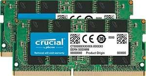 Crucial CT2K16G4SFD8266 32GB (16GB x2) Speicher Kit (DDR4, 2666 MT/s, PC4-21300, Dual Rank x8,
