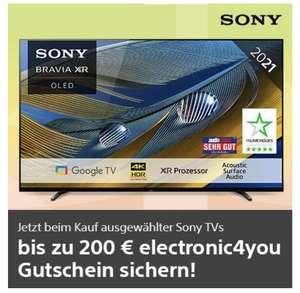 Sony TVkaufen -> electronic4you Gutschein erhalten