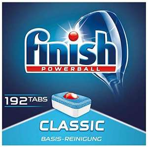 Finish Classic Spülmaschinentabs – Geschirrspültabs mit Powerball (192 Tabs)