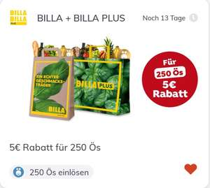 Billa mit jö-App: 5€ für 250 Ös