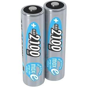 2x ANSMANN Akku AA Mignon 2100mAh 1,2V NiMH - wiederaufladbare Batterien