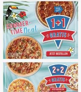 Domino's Pizza: 1 + 1 Gratis Pizza bei Abholung oder 2+2 gratis bei Lieferung/Abholung