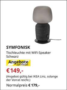 Ikea Linz: Symfonisk Tischleuchte mit (Sonos-) Wifi Lautsprecher