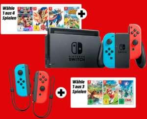The Legend of Zelda: Skyward Sword HD + Joy-Con 2er-Set Controller Blau/Neon-Gelb für 91,28€ (Media Markt)