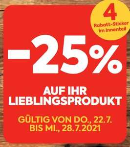 Billa / Billa Plus -25% Sticker Aktion 22.7. - 28.7.