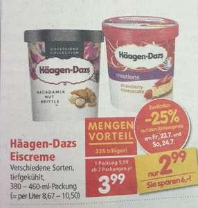 Häagen Dazs Eiscreme in Aktion bei Interspar