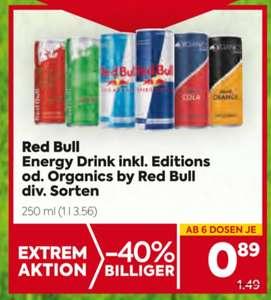Red Bull inkl. Editions oder Organics by Red Bull (div. Sorten) im Angebot bei Billa und Billa-Plus