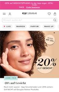 Douglas -20% oder 25% (App) auf Gesichtspflege