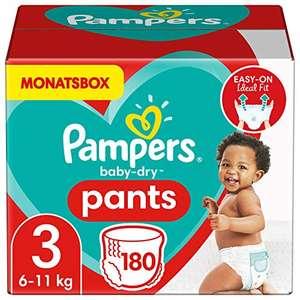 Pampers Windeln Pants Größe 3 (6-11kg) Baby Dry, 180 Höschenwindeln