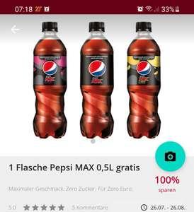 Coupies: 100 % Cashback auf Pepsi Max 0.5l