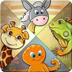 """Kinder Puzzlespiel - Tiere Spiel"" (Android) gratis im Google PlayStore - ohne Werbung / ohne InApp-Käufe -"