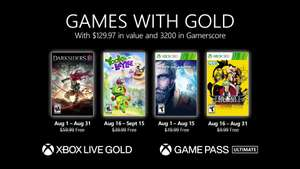 Games with Gold August 21: Darksiders III, Yooka Laylee, Lost Planet 3, Garou: Mark of the Wolves (Infodeal - XBOX One / Series S|X / 360)