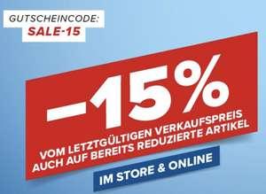 Hervis: 15% Rabatt auf fast vieles inklusive Sale