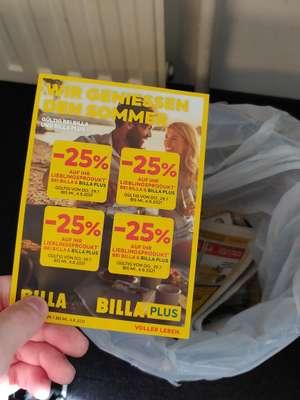 BILLA (PLUS) -25% Pickerl in der OE24 Tageszeitung