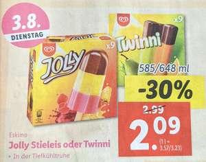 Eskimo Jolly Stieleis oder Twinni Packung um 2,09€