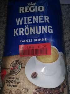 Kaffeebohnen von Regio 500 Gramm um 1 Euro