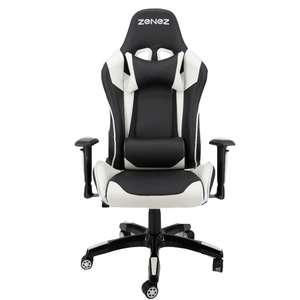 ZENEZ Gaming Stuhl; Bürostuhl in verschiedenen Farben, Edelstahlrahmen; Kunstleder; Liegefunktion. für 108,99€ Versand aus Spanien.