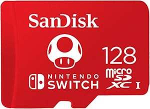 SanDisk Nintendo Switch R100/W90 microSDXC 128GB, UHS-I U3, Class 10