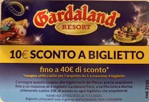 [Urlaubspreisjäger Italien] - Gardaland 10 Euro Rabatt