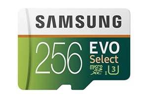 Samsung EVO Select R100/W90 microSDXC 256GB Kit
