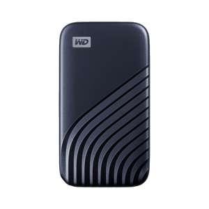 WD My Passport SSD 4 TB mobile Festplatte (NVMe-Technologie, USB-C und USB 3.2 Gen-2, L 1050 MB/s, S 1000 MB/s