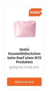 Gratis Kosmetiktasche bei Kauf eines NYX-Produktes in der Müller App