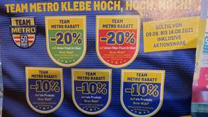 Metro: -20% Pickerl Team Metro Rabatt