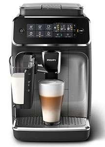 Philips 3200 Serie EP3246/70 Kaffeevollautomat, 5 Kaffeespezialitäten (LatteGo Milchsystem) Schwarz/Silber-lackiert